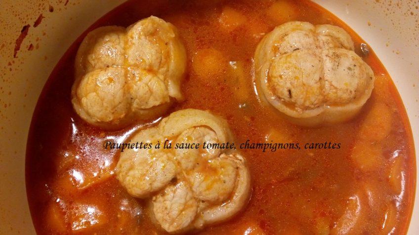 Paupiettes de veau à la sauce tomate dans évolu cook – Le fait on